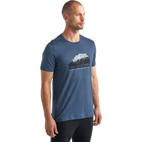 Icebreaker Tech Lite SS Crew Shirt Icebreaker Mountain Men, serene blue